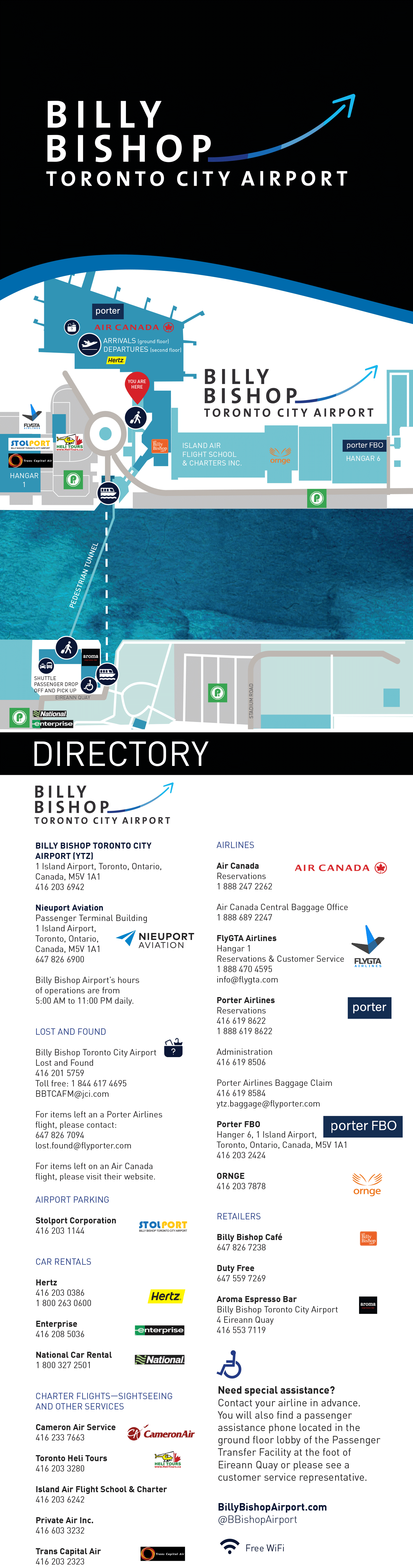 Ytz Airport Map Map   At the Airport | Billy Bishop Toronto City Airport